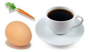 ou morcov cafea