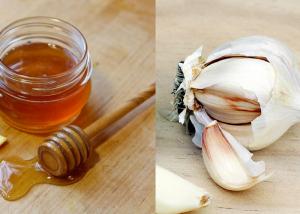 miere de albine infuzata cu usturoi