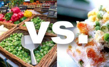 fructe si legume proaspete vs congelate